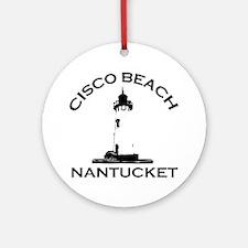 "Cisco Beach ""Lighthouse"" Design. Ornament (Round)"