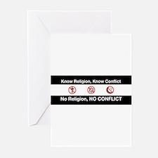 No Religion, No Conflict Greeting Cards (Pk of 20)