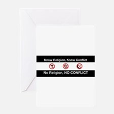 No Religion, No Conflict Greeting Card