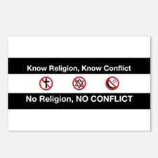 No Religion, No Conflict Postcards (Package of 8)