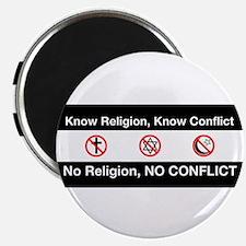 No Religion, No Conflict Magnet