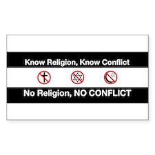No Religion, No Conflict Decal