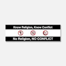 No Religion, No Conflict Car Magnet 10 x 3