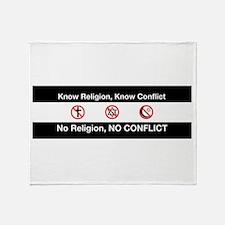 No Religion, No Conflict Throw Blanket