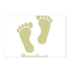 Barefoot Tan - Foot Prints Postcards (Package of 8
