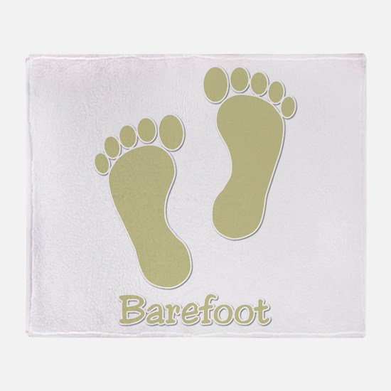 Barefoot Tan - Foot Prints Throw Blanket