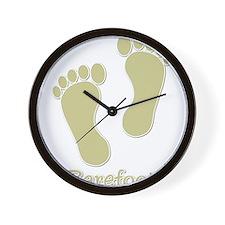 Barefoot Tan - Foot Prints Wall Clock