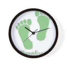 Barefoot Green - Foot Prints Wall Clock