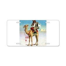 Roosevelt Bear on a Camel Aluminum License Plate
