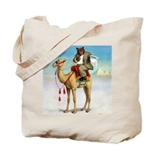 Roosevelt Bear on a Camel Tote Bag