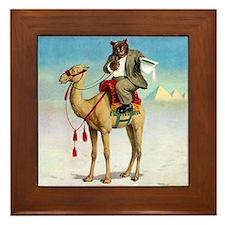 Roosevelt Bear on a Camel Framed Tile
