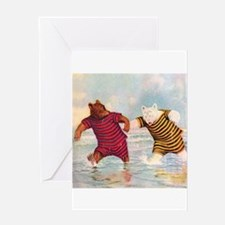 Roosevelt Bears on the Beach Greeting Card