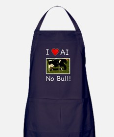 I Love AI No Bull Apron (dark)