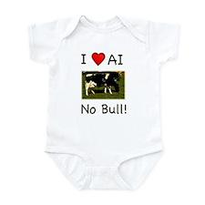 I Love AI No Bull Infant Bodysuit