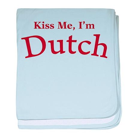 Kiss Me, I'm Dutch baby blanket