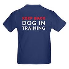 Dog in Training Kids Dark T-Shirt