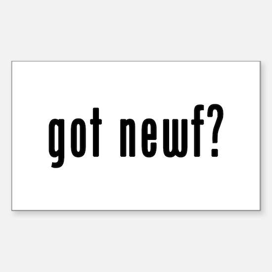 GOT NEWF Sticker (Rectangle)