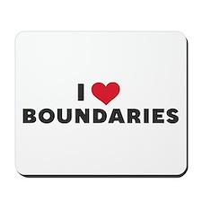 I Heart Boundaries Mousepad