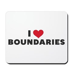 I Heart Boundaries Mousepad