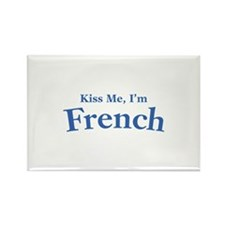 Kiss Me, I'm French Rectangle Magnet