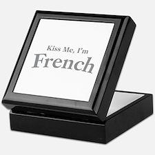 Kiss Me, I'm French Keepsake Box