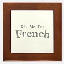 Kiss Me, I'm French Framed Tile