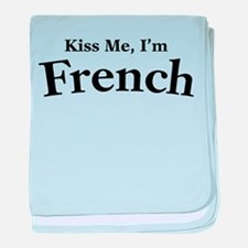 Kiss Me, I'm French baby blanket
