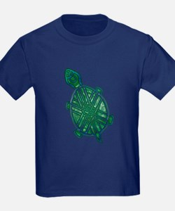 Celtic Knotwork Turtle Kids T-Shirt