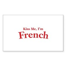 Kiss Me, I'm French Decal