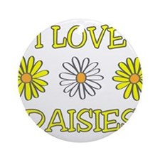 I Love Daisies - Daisy Flower Ornament (Round)