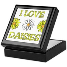 I Love Daisies - Daisy Flower Keepsake Box