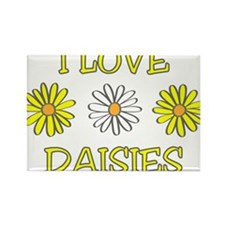 I Love Daisies - Daisy Flower Rectangle Magnet