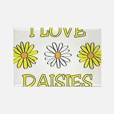 I Love Daisies - Daisy Flower Rectangle Magnet