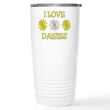 I Love Daisies - Daisy Flower Travel Mug