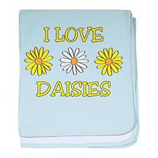 I Love Daisies - Daisy Flower baby blanket