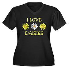 I Love Daisies - Daisy Flower Women's Plus Size V-