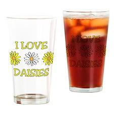 I Love Daisies - Daisy Flower Drinking Glass