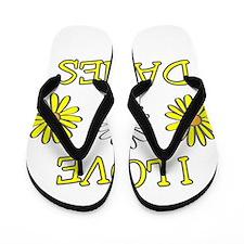 I Love Daisies - Daisy Flower Flip Flops