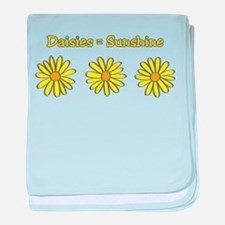 Daisies equal Sunshine! baby blanket