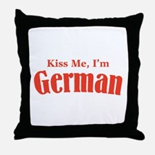 Kiss Me, I'm German Throw Pillow