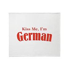 Kiss Me, I'm German Throw Blanket