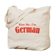 Kiss Me, I'm German Tote Bag