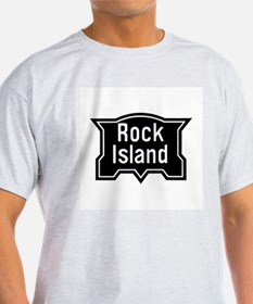 Rock Island Rail Ash Grey T-Shirt