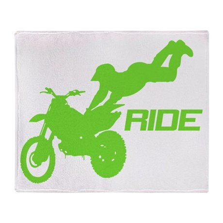 Ride Green Throw Blanket
