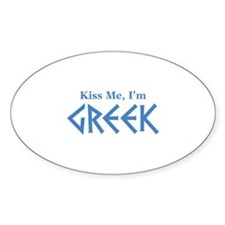 Kiss Me, I'm Greek Decal