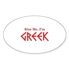 Kiss Me, I'm Greek Decal