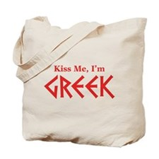 Kiss Me, I'm Greek Tote Bag