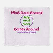 Keep Good Karma Throw Blanket