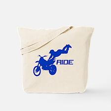 Ride Blue Tote Bag