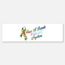 I Wear A Puzzle for my Nephew Bumper Bumper Sticker